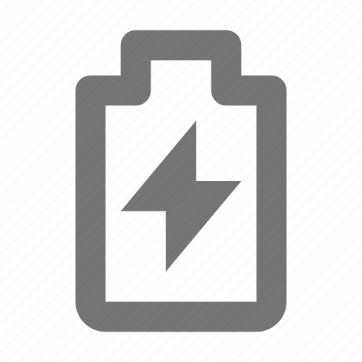 battery, bolt, charge, device, energy, mobile, phone, thunder icon