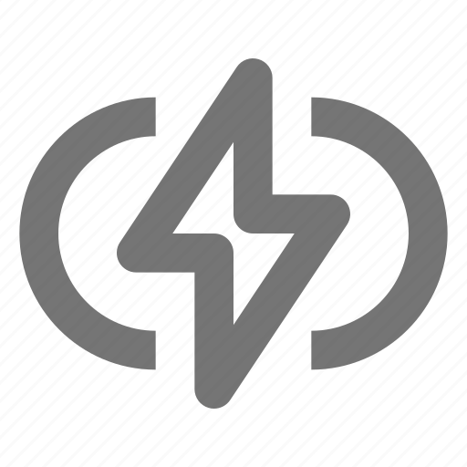 battery, bolt, bracket, charge, device, energy, flash icon