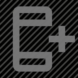 add, new, phone, plus, smartphone icon