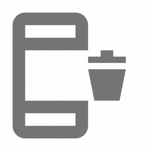 Phone, telephone, trash, smartphone, bin, device, gadget icon - Download on Iconfinder