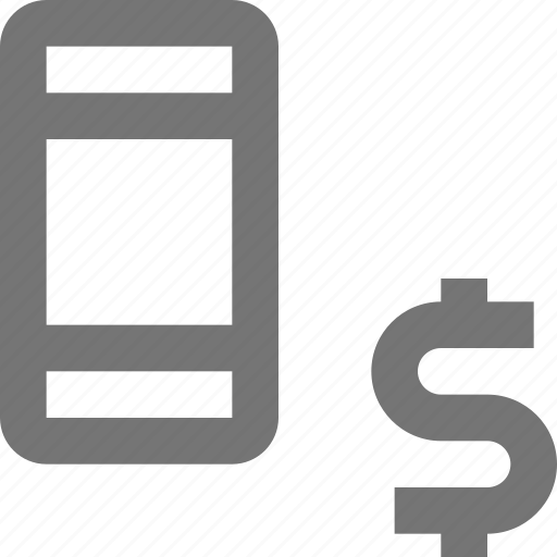 device, dollar, gadget, mobile, money, phone, smartphone, telephone icon