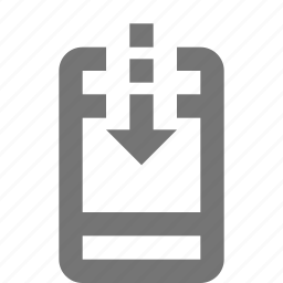 arrow, device, download, gadget, mobile, phone, smartphone, telephone icon