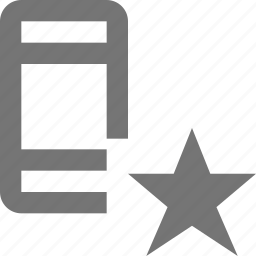 favorite, phone, smartphone, star, telephone icon