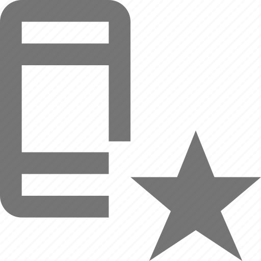 device, favorite, gadget, mobile, phone, smartphone, star, telephone icon