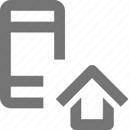 home, house, phone, smartphone icon
