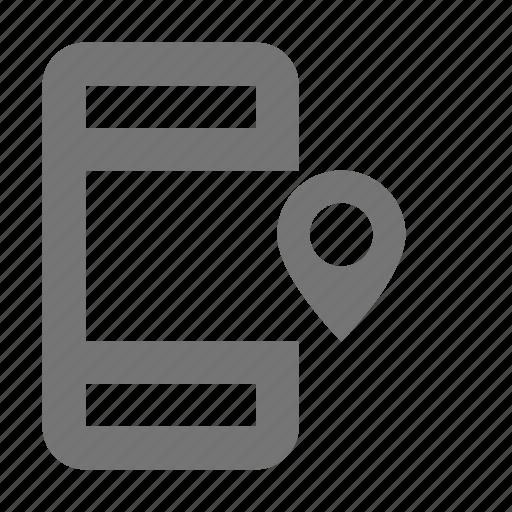 location, phone, smartphone icon