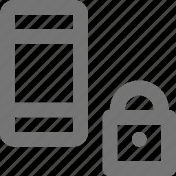 lock, locked, phone, smartphone icon