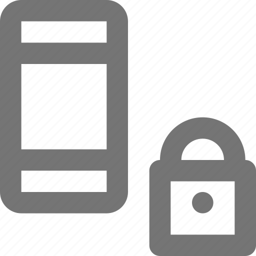 device, gadget, lock, locked, mobile, phone, smartphone, touchscreen icon
