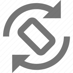 arrows, phone, rotate, smartphone icon