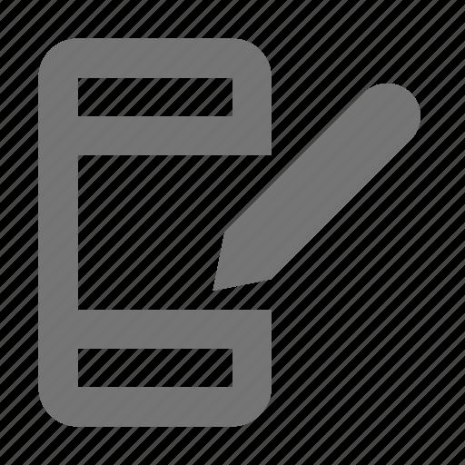 edit, phone, smartphone, stylus, telephone icon