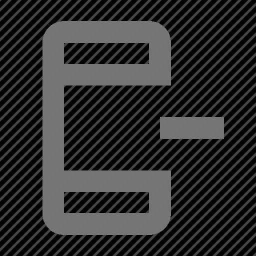 minimize, minus, phone, remove, smartphone icon