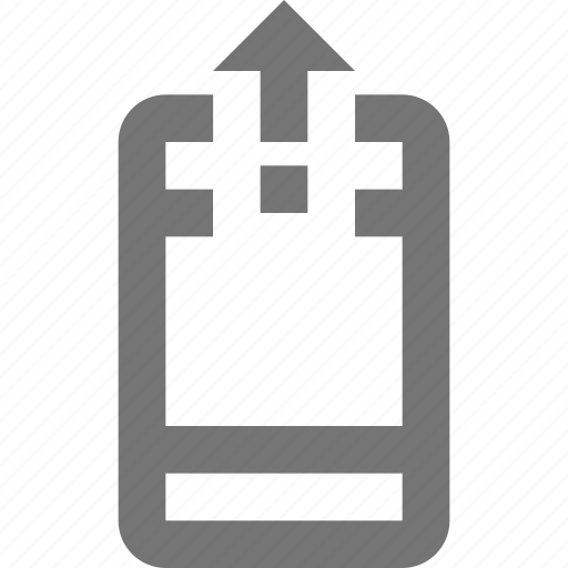Phone, upload, arrow, telephone, smartphone, device, gadget icon - Download on Iconfinder