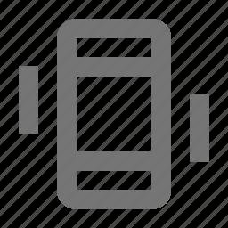 phone, smartphone, telephone, vibrate icon
