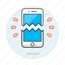1, broken, mobile, phone, repair, smartphone icon