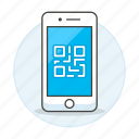 code, features, mobile, phone, qr, smartphone icon