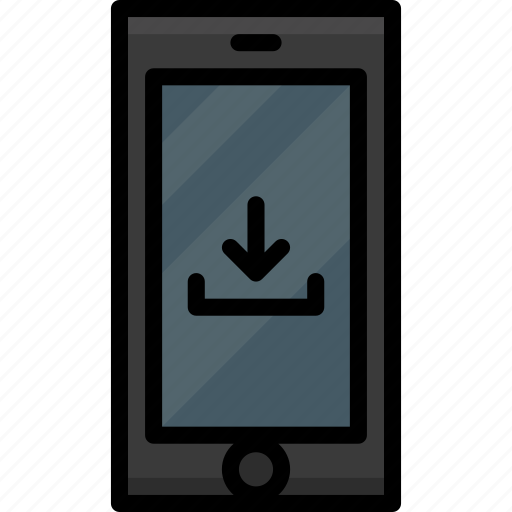 cell, colour, download, functions, mobile, phone icon