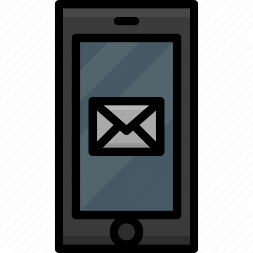 cell, colour, email, functions, message, mobile, phone icon