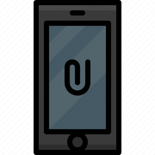 attachment, cell, clip, colour, functions, mobile, phone icon
