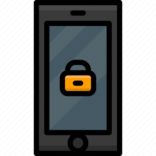 cell, colour, functions, lock, mobile, phone icon