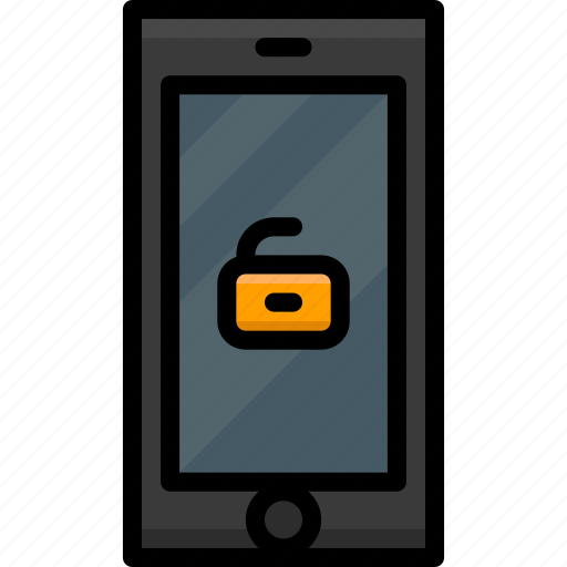 Cell, colour, functions, mobile, phone, unlock icon - Download on Iconfinder