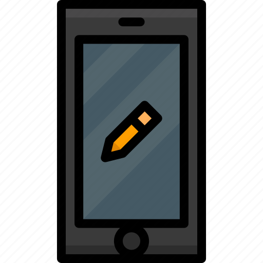 cell, colour, edit, functions, mobile, phone icon