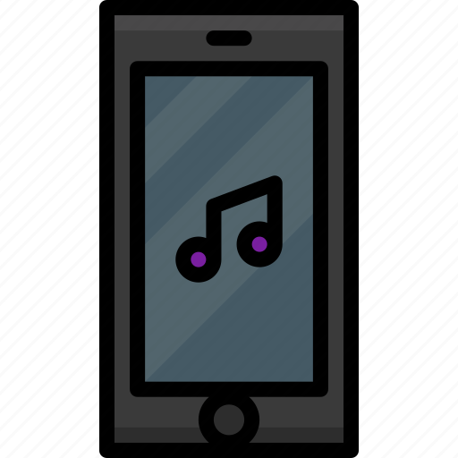 cell, colour, functions, mobile, music, phone, songs icon
