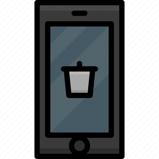 Cell, colour, functions, mobile, phone, trash icon - Download on Iconfinder