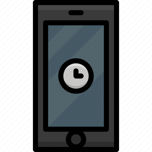 cell, clock, functions, mobile, phone, please, wait icon