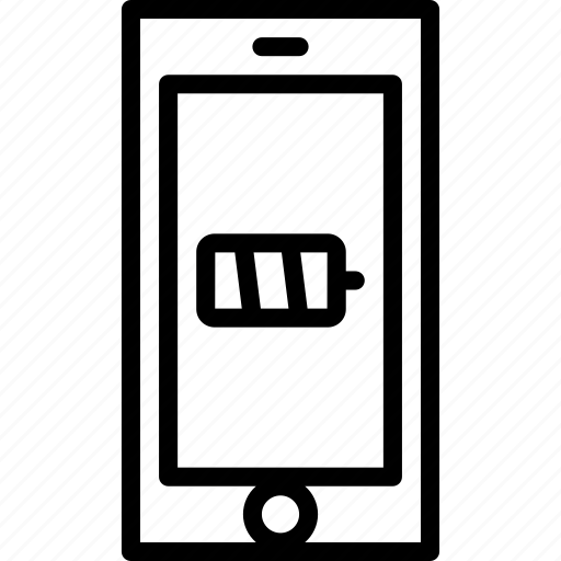 battery, cell, functions, mobile, outline, phone icon