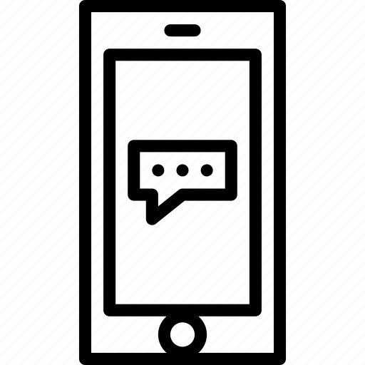 cell, functions, message, mobile, outline, phone icon