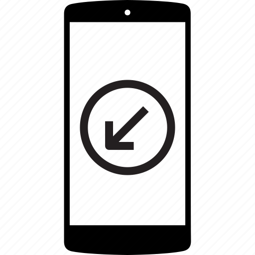 left, left arrow, mobile, mobile phone, phone icon