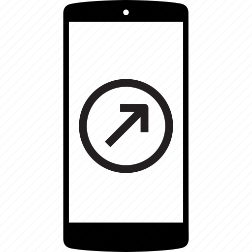mobile, mobile phone, phone, right, right arrow icon
