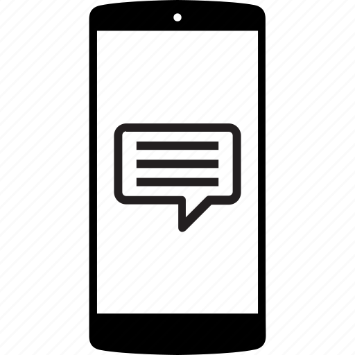 mobile, mobile phone, mobile speech, phone, speech bubble icon