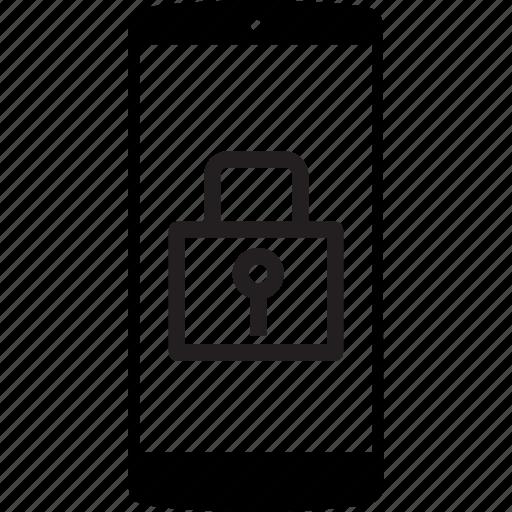 button lock, lock, locked, mobile, mobile phone, phone icon