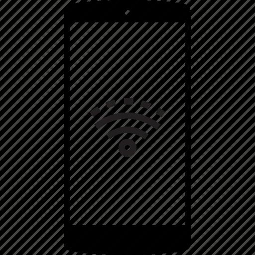 mobile, phone, signal, weak signal, wireless icon