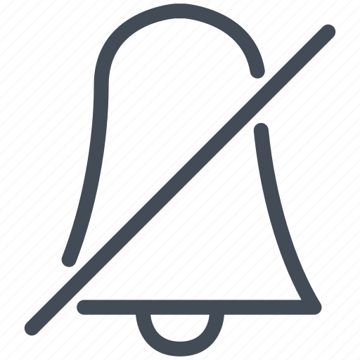 bell, interface, mobile, quiet, ring, smartphone icon