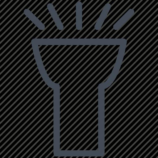 flashlight, interface, mobile, smartphone icon