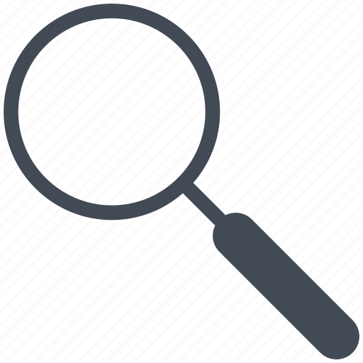 interface, lens, magnifier, mobile, search, smartphone icon