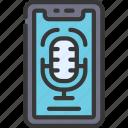 audio, recording, cellular, device, clip icon