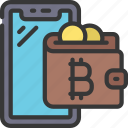 bitcoin, wallet, cellular, device, crypto, currency
