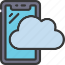 cloud, cellular, device, computing, upload