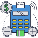 buy, card, credit, money, payment, slip, terminal icon