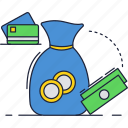 bag, buy, card, credit, money, payment, saving icon