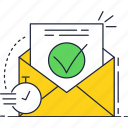 delivery, email, fast, mail, timer