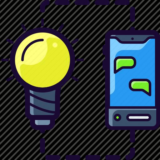 Bulb, idea, light, mobile, startup icon - Download on Iconfinder