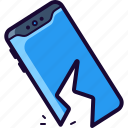 breaking, broken, cell, drop, phone icon