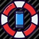 belt, fix, life, phone, repair, rescue, service