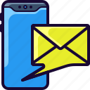 email, open, phone, read, send icon
