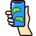 message, messaging, text, texting icon