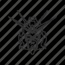 android, anime, cartoon, f91, gundam, mecha, robot icon
